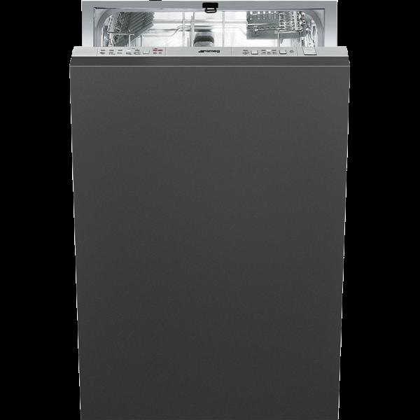 Полностью встраиваемая посудомоечная машина, 45 см, Чёрный Smeg STA4507IN