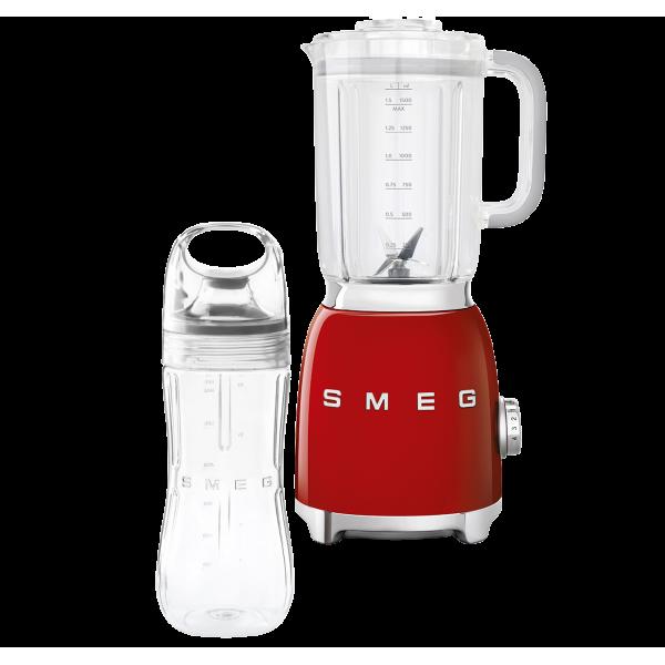 Стационарный блендер, объем кувшина 1,5л, Красный Smeg BLF01RDEU + переносной контейнер из TritanTM BGF01 в подарок!