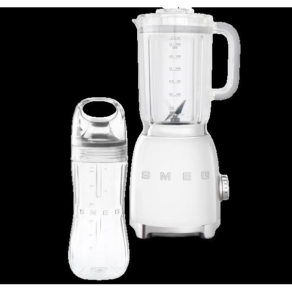 Стационарный блендер, объем кувшина 1,5л, Белый Smeg BLF01WHEU + переносной контейнер из TritanTM BGF01 в подарок!