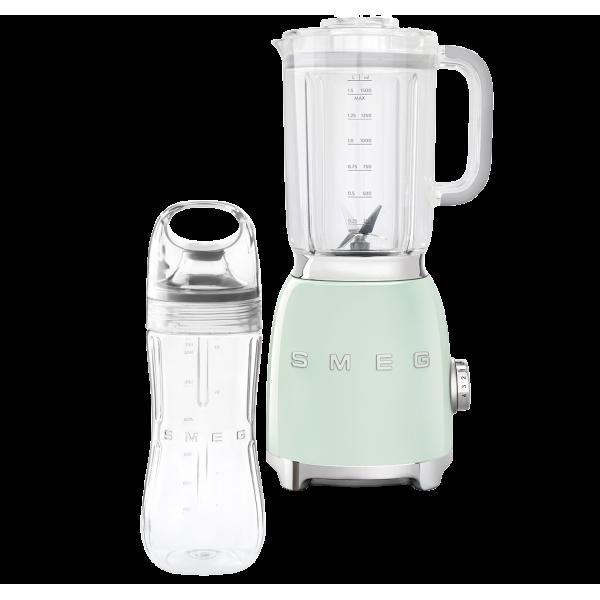 Стационарный блендер, объем кувшина 1,5л, Зеленый Smeg BLF01PGEU + переносной контейнер из TritanTM BGF01 в подарок!