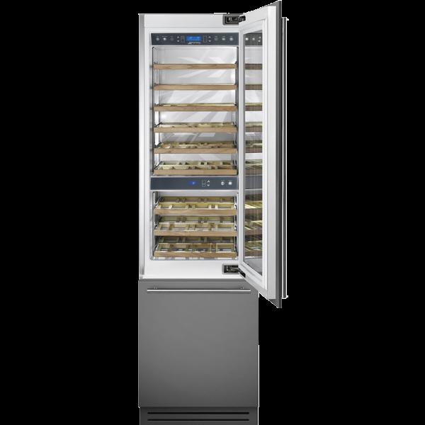 Винный холодильник встраиваемый, 60 см, Нержавеющая сталь Smeg WI66RS