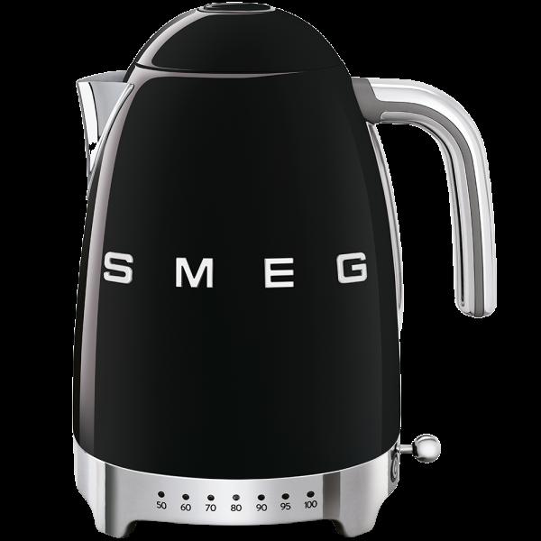 Чайник электрический с регулируемой температурой, Чёрный Smeg KLF04BLEU