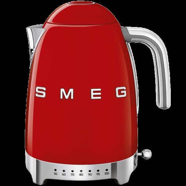Чайник электрический с регулируемой температурой, Красный Smeg KLF04RDEU