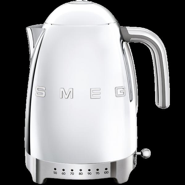 Чайник электрический с регулируемой температурой, Серебристый Smeg KLF04SSEU