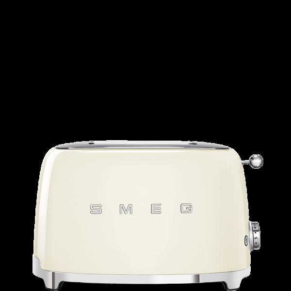 Тостер на 2 ломтика, Кремовый Smeg TSF01CREU