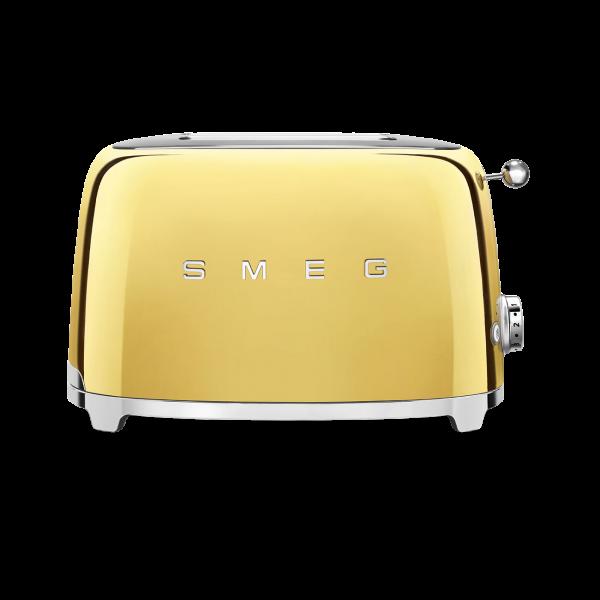 Тостер на 2 ломтика, Золотой Smeg TSF01GOEU