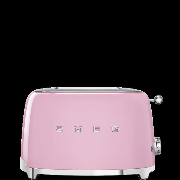 Тостер на 2 ломтика, Розовый Smeg TSF01PKEU