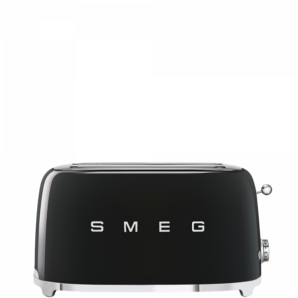Тостер на 4 ломтика, Чёрный Smeg TSF02BLEU