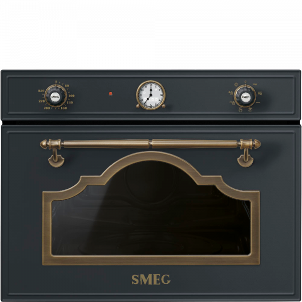 Встраиваемая микроволновая печь, 60 см, Антрацит Smeg SF4750MAO