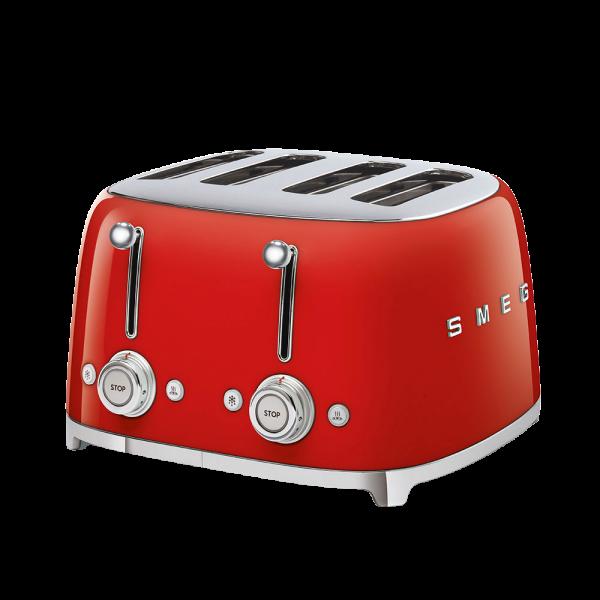 Тостер на 4 ломтика, Красный Smeg TSF03RDEU