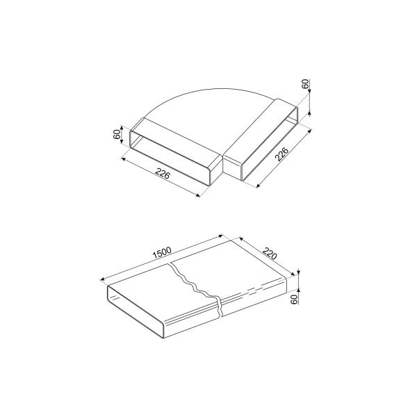 Набор аксессуаров для варочных поверхностей с интегрированной вытяжкой Smeg KITEHOBD4