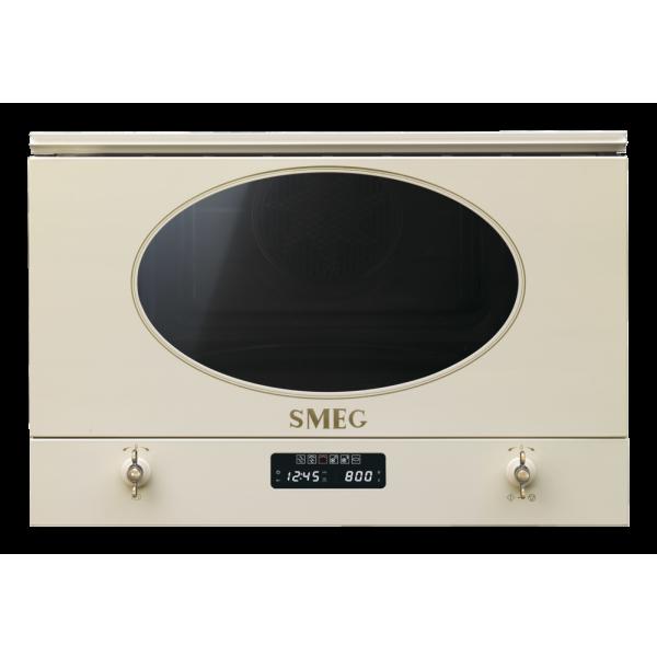 Встраиваемая микроволновая печь, 60 см, Кремовый Smeg MP822PO