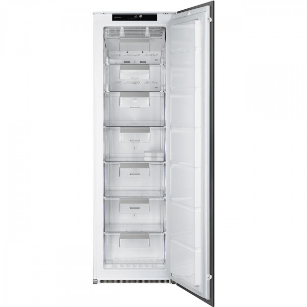 Встраиваемая однодверная морозильная камера, No-frost, Белый Smeg S8F174NE